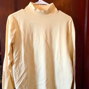 Women's Yellow Mock Neck Long Sleeve